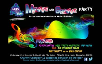 Arts All Over the Place Fundraiser on 6th December